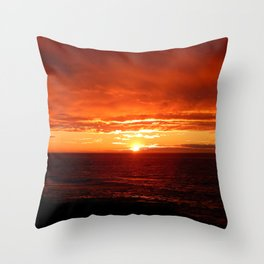 Sun Sets on the Mighty Saint-Lawrence Throw Pillow
