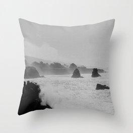Misty Cliffs of the Soul Throw Pillow