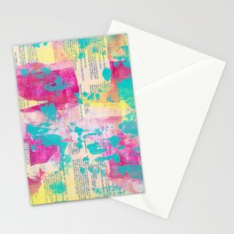 Abstract Mixed Media - Neon Stationery Cards