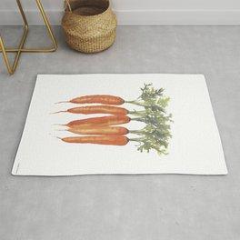 Carrots Watercolor Rug