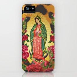 Virgen de Guadalupe Leopard iPhone Case