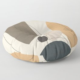 Abstract Minimal Shapes 26 Floor Pillow
