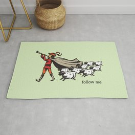 'Follow me' from the RetroTech Series by DaMoJo.co Rug