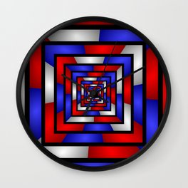 Colorful Tunnel 3 Digital Art Graphic Wall Clock