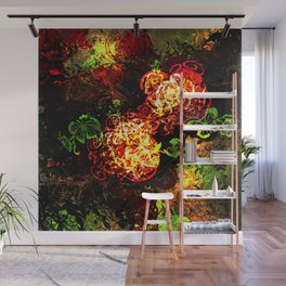 Bushes, Begonias and Butterflies Wall Mural
