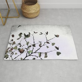 abstract cold leaves Rug