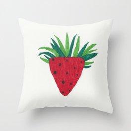 Strawberry Tone Art Throw Pillow