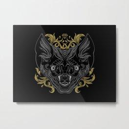 Ornamental Bat Head Metal Print
