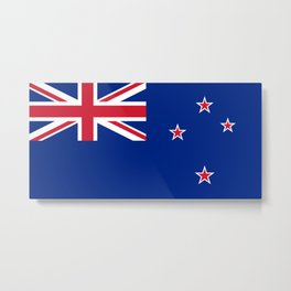 The Flag of New Zealand Metal Print