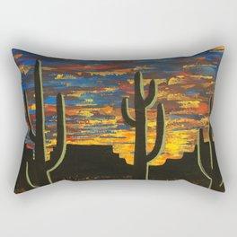 Brilliant Southwest Sunset Rectangular Pillow