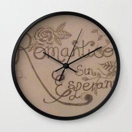 Romantico Sin Esperanza. Wall Clock