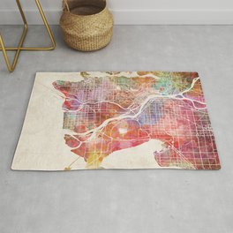 Vancouver map Rug