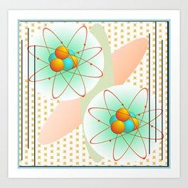 Mid-Century Modern Art Atomic 1.0 Art Print