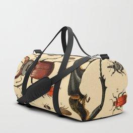 Popular History of Animals Beetles Vintage Scientific Illustration Educational Diagrams Duffle Bag
