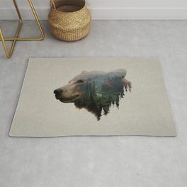 The Pacific Northwest Black Bear Rug