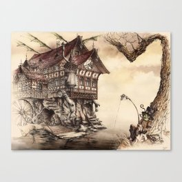 Steampunk Landscape Canvas Print