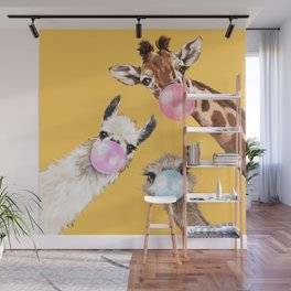 Bubble Gum Gang in Yellow Wall Mural