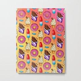 sweet tooth pattern Metal Print