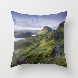 The Road to the Quiraing Throw Pillow