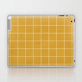 Small Grid Pattern - Mustard Yellow Laptop & iPad Skin