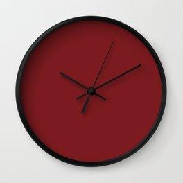Plum's Promise ~ Burgundy Wall Clock