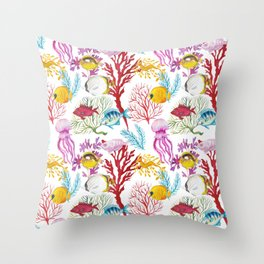Coral Reef - All together Throw Pillow