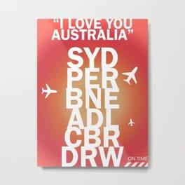 Australian Airports Metal Print