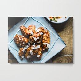 Korean Spicy Chicken Metal Print