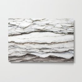 Layered Rocks Metal Print