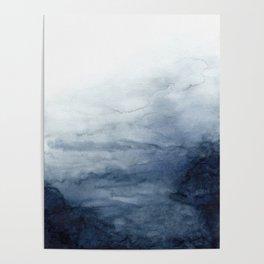 Indigo Abstract Painting | No.2 Poster