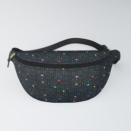 Pac-Man Retro Arcade Video Game Pattern Design Fanny Pack