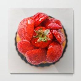 Strawberry French Patisserie | Fine Art Metal Print