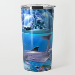 The Dolphin Family Travel Mug