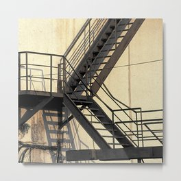 Outside stairs Metal Print