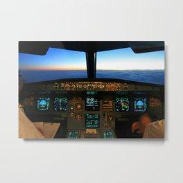 Airbus A320 Cockpit Metal Print