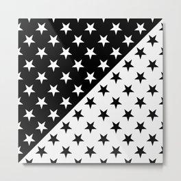 STAR PATTERN (BLACK-WHITE) Metal Print