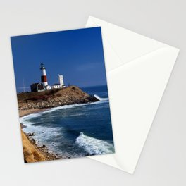 Crispy Morning at Montauk Point Lighthouse Long Island New York Stationery Cards