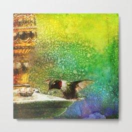 Jewel Hummingbird ~ Ginkelmier Inspired Metal Print