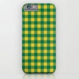 Plaid (green/yellow) iPhone Case
