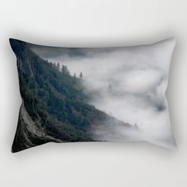 fantastic foggy MORNING in the mountains - Germany, The Alps, Königsstein Rectangular Pillow