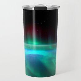 Aurora Borealis Over Earth Travel Mug