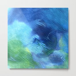 The Forest Pool - Abstract Print Metal Print