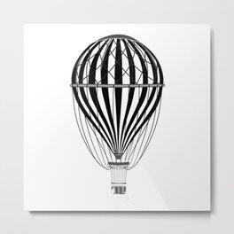 Retro Balloonist Hot Air Balloon Pilot Ballooning Metal Print