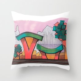 Funky Architecture Nature Landscape 28 Throw Pillow