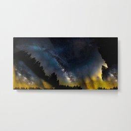 Galaxy on Fire Metal Print