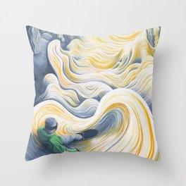 Snowboader in a 'Pillow Paradise' Throw Pillow