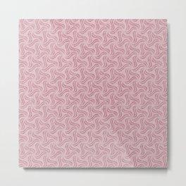 Faux Velvet Pinwheel Pattern in Pastel Pink Metal Print