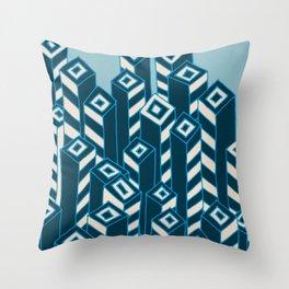 URBAN in BLUE Throw Pillow