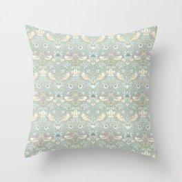 William Morris Pastel Strawberry Thief Pattern Throw Pillow