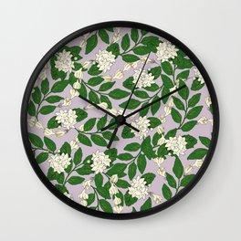 Sampaguita Pattern Wall Clock